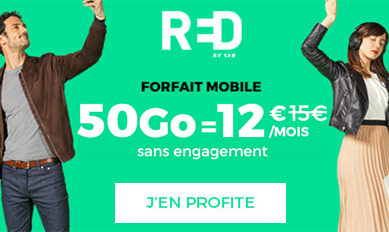 Promo RED by SFR 50Go = 12€