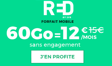 Promo RED by SFR 60Go = 12€