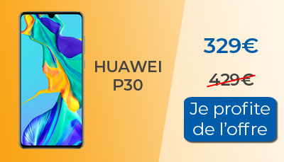 Promo : Huawei P30 à 329€ chez RED by SFR