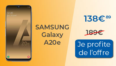 Promo Galaxy A20e à 138€ chez Amazon