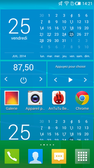Alcatel OneTouch Idol 2S : widgets
