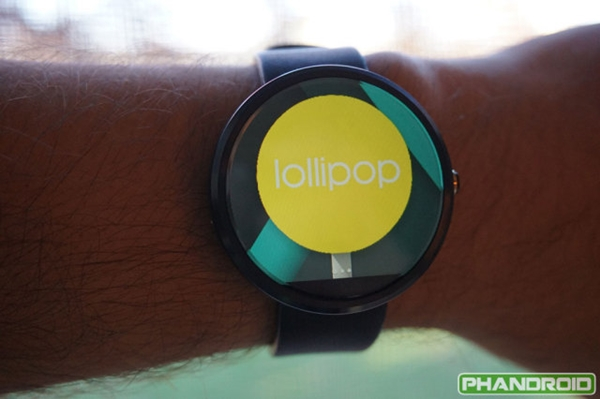 Android Wear Lollipop sur Moto 360