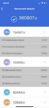 Apple iPhone XS Benchmark results
