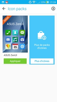 Asus Zenfone 2 : Icon packs