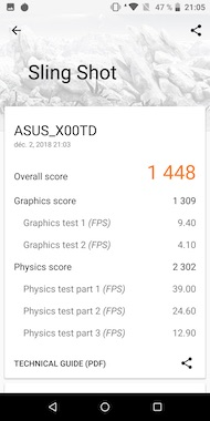 Asus ZenFone Max Pro (M1) Benchmark results