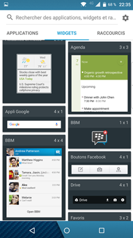 Blackberry Priv : widgets