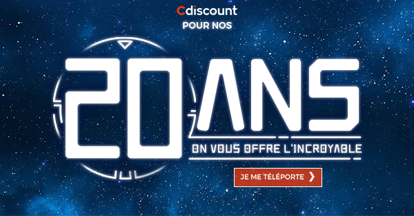 Cdiscount 20 ans