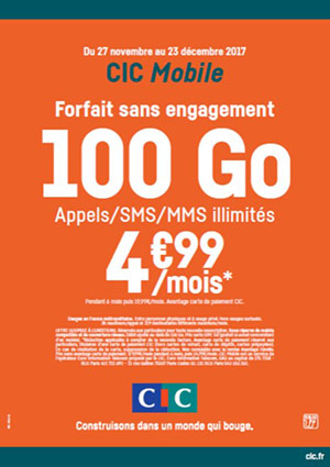 Forfait CIC Mobile 100 Go