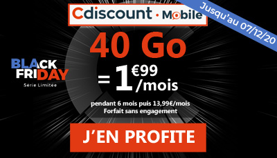 forfait Cdiscount Mobile BF