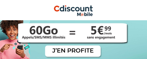forfait French Days Cdiscount Mobile 60Go