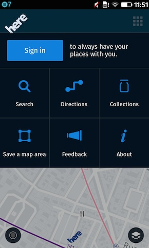 Firefox OS Here Maps