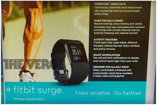 Fitbit Surge, photo The Verge
