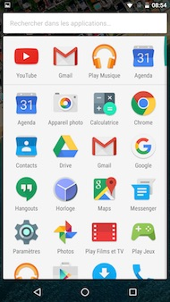 Google Nexus 5X interface