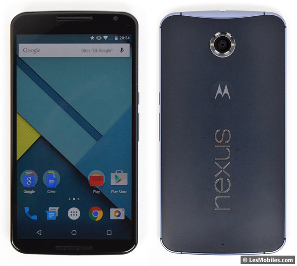 Google Nexus 6 prise en main