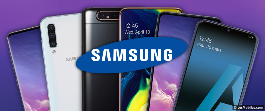 Guide d'achat smartphones Samsung 2019