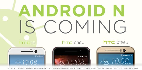 Android N chez HTC