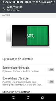 HTC Desire 530 : alimentation