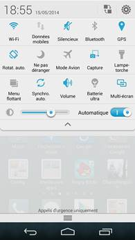 Huawei Ascend P7 : centre de notifications