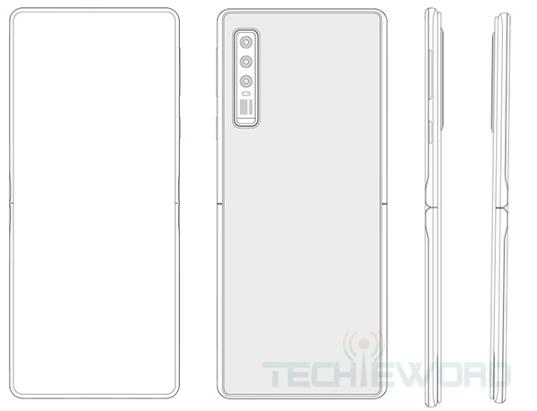Huawei smartphone pliable clapet