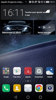 Huawei Mate 8 interface