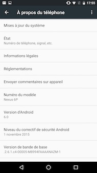 Huawei Nexus 6P interface