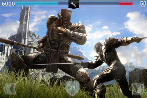 infinity blade 2 apple app store iPhone 4S iPad 2 3GS iPod chair entertainment
