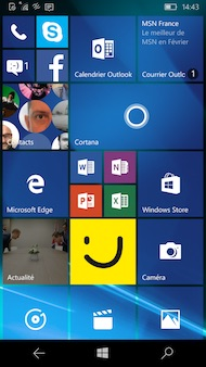 Microsoft Lumia 650 interface