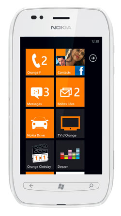 nokia lumia 710 blanc exclu orange