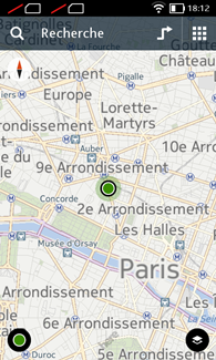 Nokia XL : Here Maps