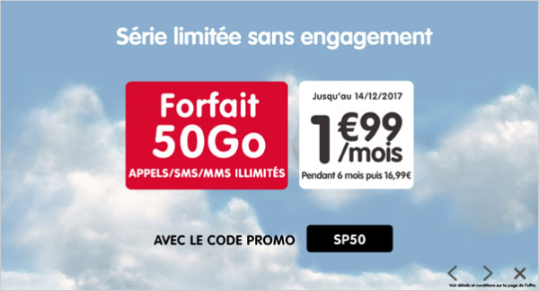 nrj mobile le forfait 50 go en promotion 1 99 euro. Black Bedroom Furniture Sets. Home Design Ideas