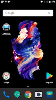 OnePlus 5 : interface (home screen)