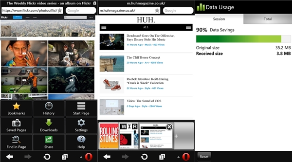 Opera Mini sur Windows Phone