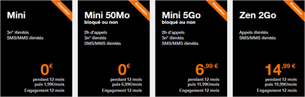 Forfaits mobile Orange pour client Open