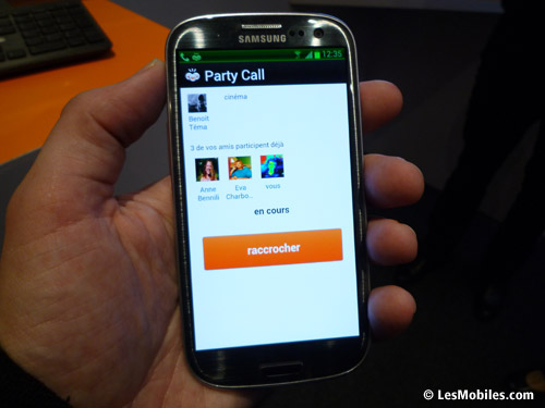 Application Party Call sur Facebook