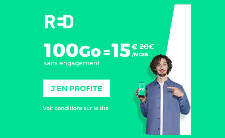 Forfait Red by SFR 100 Go 15€