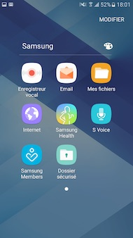 Samsung Galaxy A3 (2017) interface