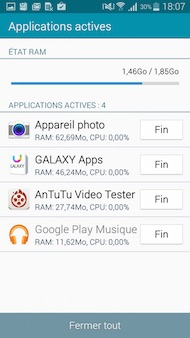 Galaxy A5 interface
