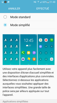 Samsung Galaxy J5 : Accueil simple