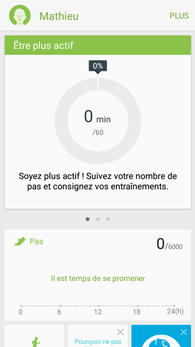 Samsung Galaxy J5 : S Health