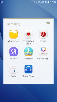 Samsung Galaxy J7 2016 interface