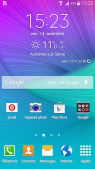 Galaxy Note 4 Interface
