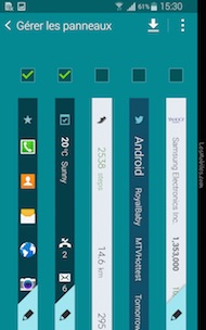 Galaxy Note Edge interface