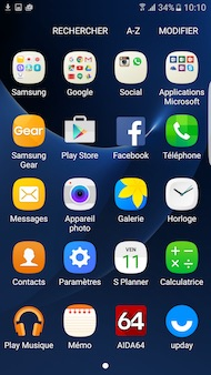 Samsung Galaxy S7 Edge interface