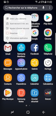 Samsung Galaxy S8 interface