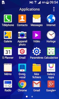 Samsung Galaxy Trend 2 Lite interface