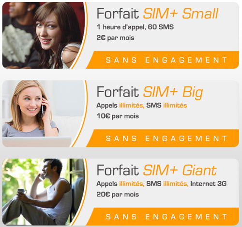 SIM+ : les forfaits Small, Big et Giant