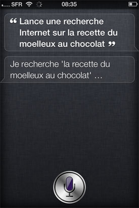 test siri iphone 4S Apple assistant vocal reconnaissance vocale intelligence artificielle