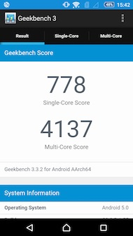 Sony Xperia C5 Ultra performances