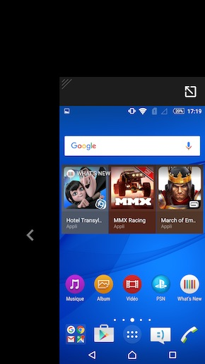 Sony Xperia C5 Ultra interface