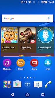 Sony Xperia M5 interface